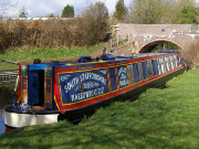 Ernest Thomas II narrow boat moored
